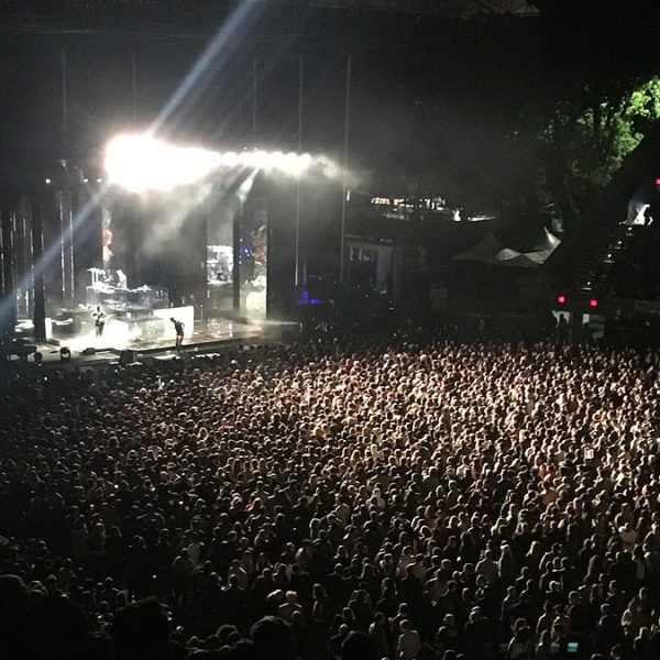 The XX Concert and crowd