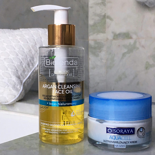 Argan face cleanser and Soraya face cream
