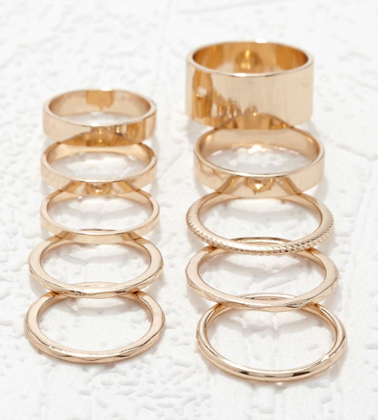 Forever 21 Mixed Midi Ring Set