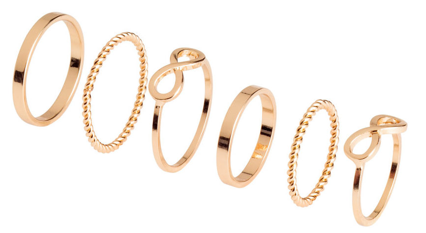 H&M Stacked gold rings