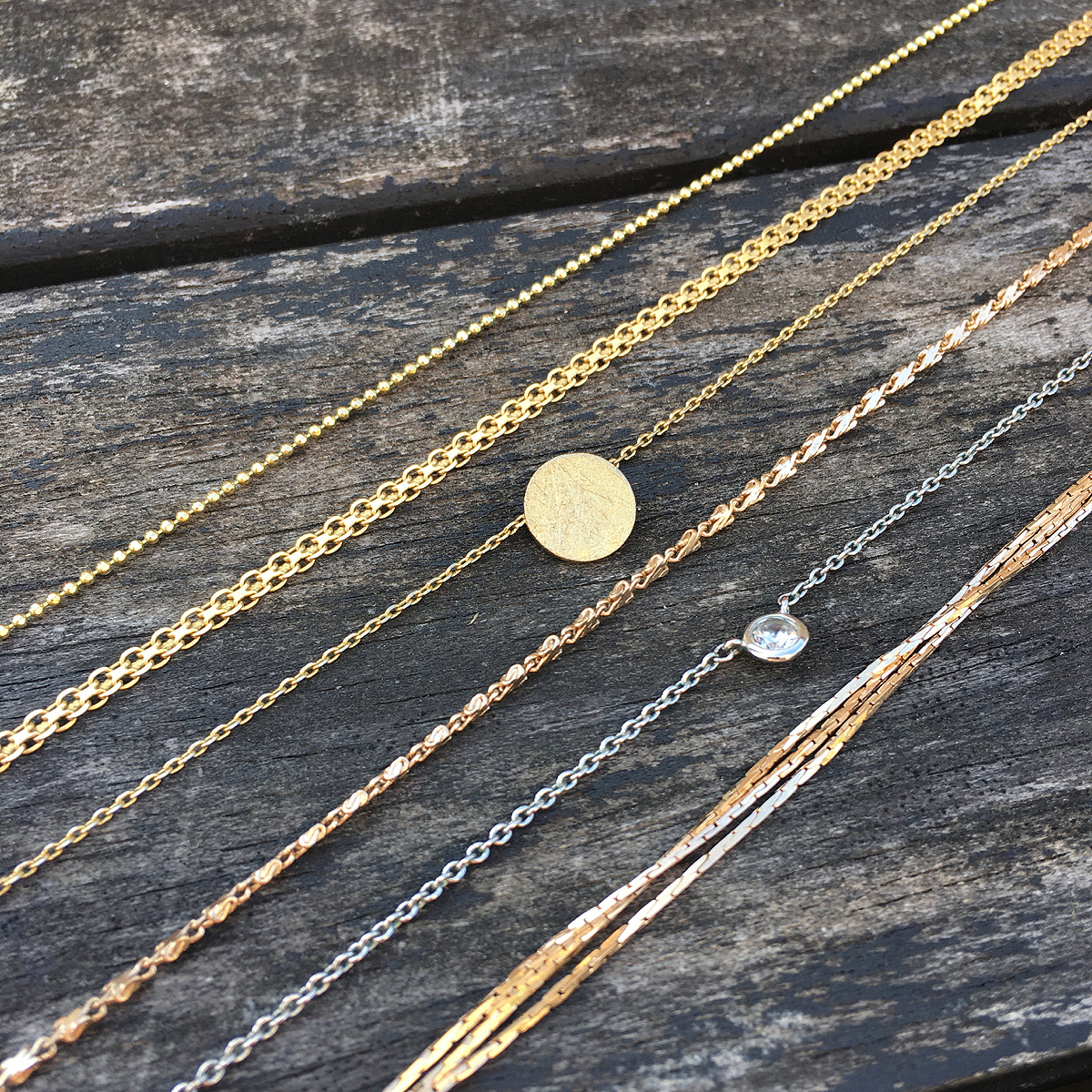 Jewelry gold necklaces