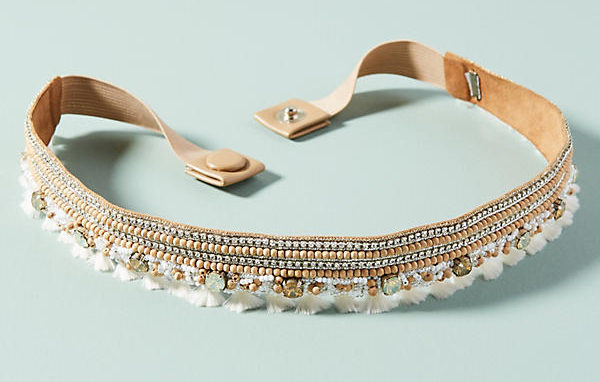 Anthropologie Marabelle Embellished Belt