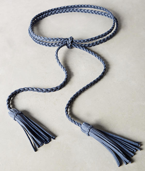 Anthropologie Selmi Fringe belt in navy