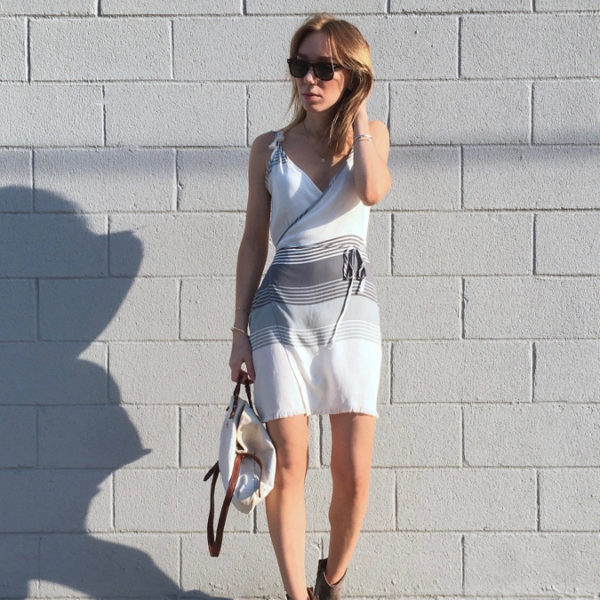 White striped dress outfit