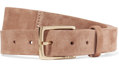 Rag and Bone belt in suede tan