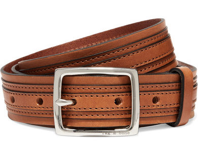 Rag Bone brown tiegan leather belt