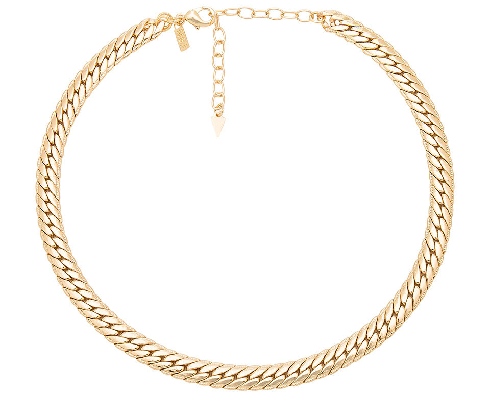 Gold necklace from Revolve