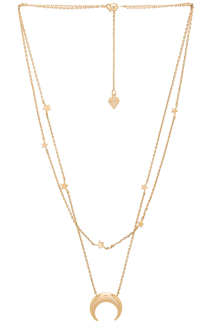 Gold chain necklaces from Revolve