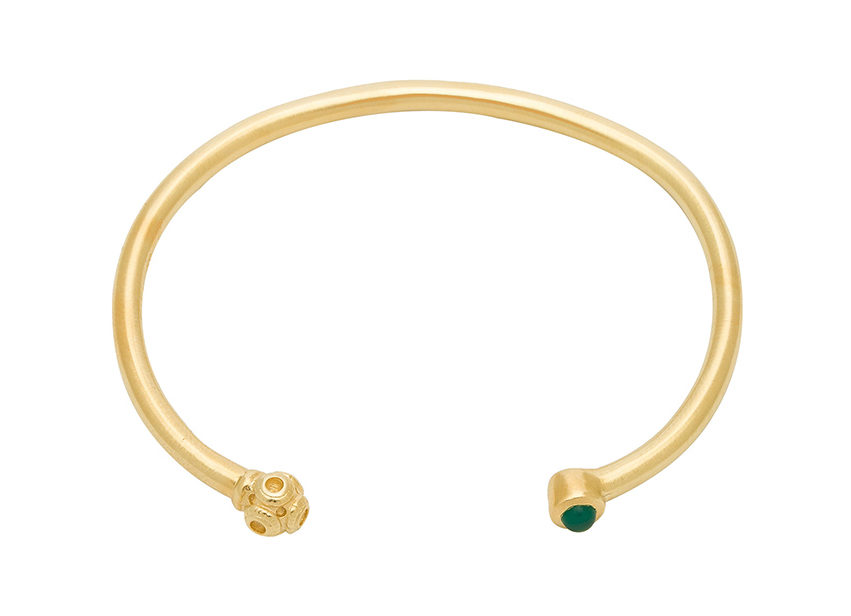 Gold bangle from Revolve